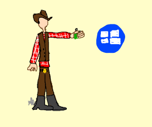 cowboy holds grenade to windows logo