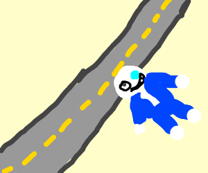 Why did sans cross the road
