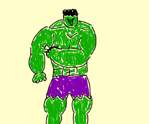 Hulk is actually on steroids