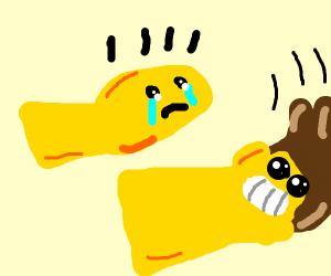 a bald gold fish