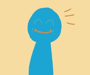 A person smiles