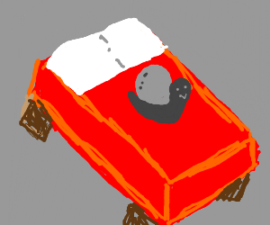 Snail in minecraft bed