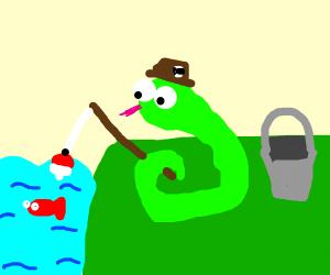 snake fishing