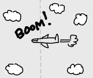 Aircraft breaking a sound barrier