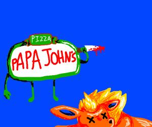 Papa johns kills Flareons from pokemon