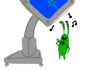 Karen and plankton are singing