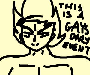 Goku but gay