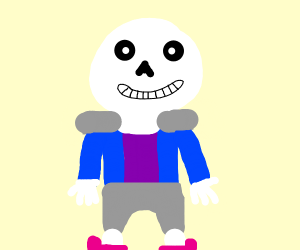 blue hoodie character with a purple shirt