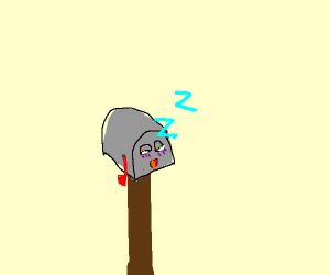Sleepy Mailbox