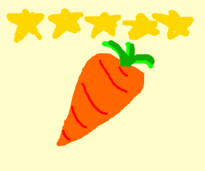 pretty carrot woth a 5 star rating