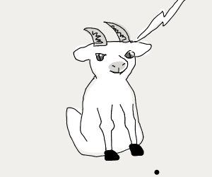 goat getting zapped by lighting