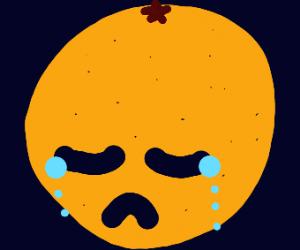 Sad Orange feels hes not Good Enough