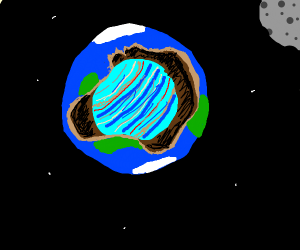 Jupiter is in the hollow earth