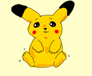 pikachu with fingers and toes