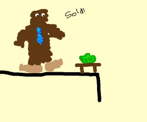 Bigfoot auctioning Lettuce