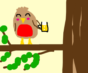 Robin good but drunk