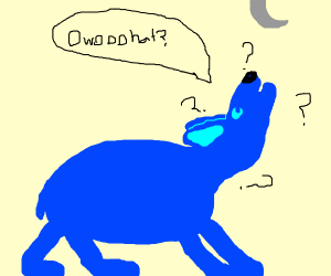 Fat Blue Wolf is Confused