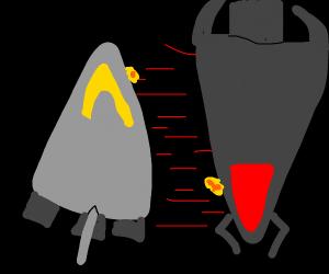 Spaceships fighting
