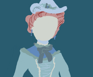 Victorian Girl in blue