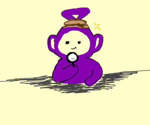 The purple tellytubby is a detective