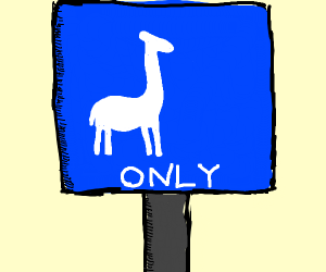 Only giraffes allowed