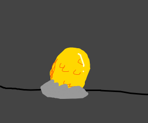a dragon egg in grey nest