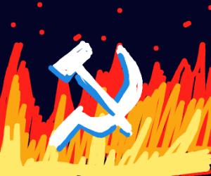 Communism in flames