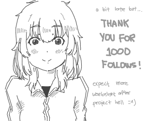 Thanks for 1000 followers