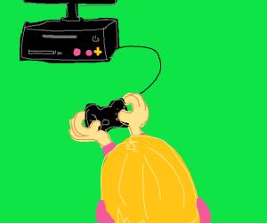 A small console gamer.