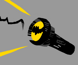 Bat signal flashlight