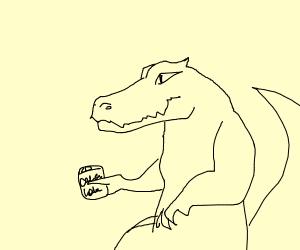 Crocodile wants coca cola