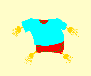 Rug wearing a T-Shirt