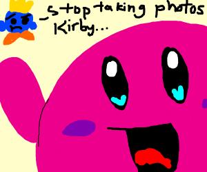 kirby doing a selfie