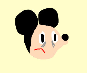 mickey mouse revels he is balding