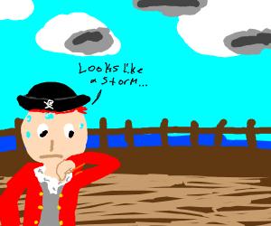 An anxious pirate