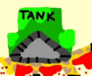 Giraffe gets destroyed by TANK
