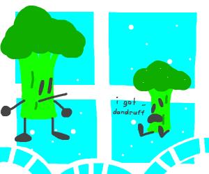 brocolli boi tells big bro hes got dandruff