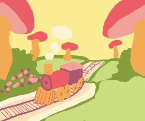 A train in Wonder Land