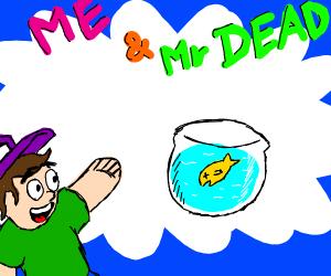 A cartoon about a dead pet.
