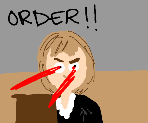 JudgeJudy reaches full power-thus laser eyes