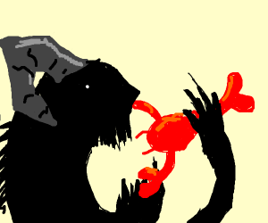 Demon eating Lobster