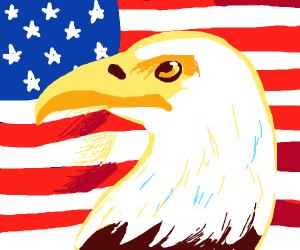American flag bird