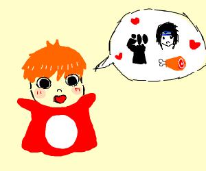 Ponyo loves ham, sasuke and revolution