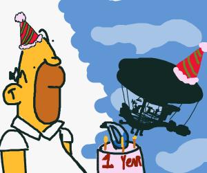 Happy brithday Homer