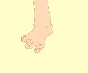 Three-toed foot