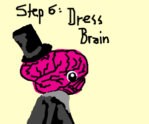 Step 5: give brain shower with peach shampoo