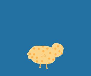 Bird made of cheese