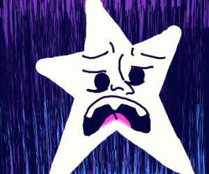 a star screaming