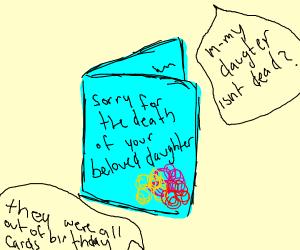 A bad birthday card