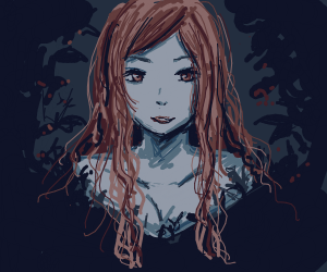girl is haunted by trees